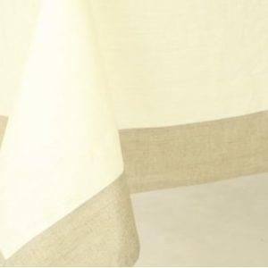 Скатерть с влагостойкая на 6 персон, светлая