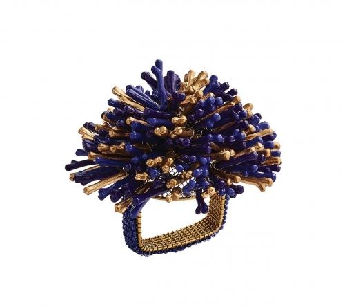 Кольцо Сан синий