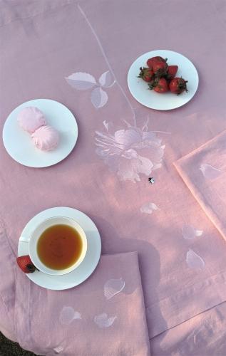 Скатерть Роза1 розов.150х200см