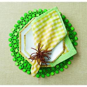 Зелёная бамбуковая подставка под тарелки