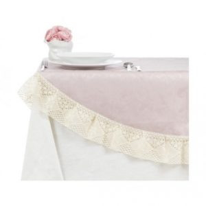 Скатерть Фиандра резинато, круглая розовая