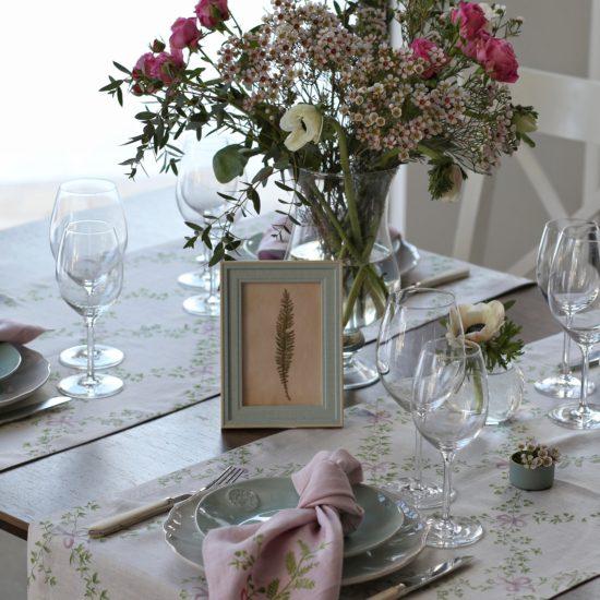 Дорожка Гербарий розовый 50х150 см с купоном