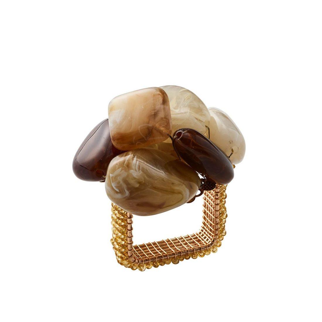 Кольцо для салфетки Стоун бежевый