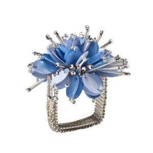 Кольцо для салфетки Стар голубой